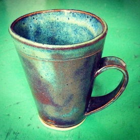 Float Blue, 1 1/4 cup mug