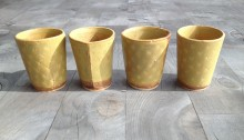 Set of 4 tumblers, each holds 4 oz. perfect for turkish coffee or a dram of whiskey.