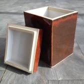 Orange Red medium box, open