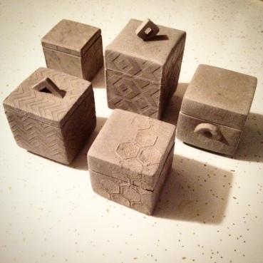 Various texture boxes