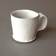 diamond pattern mug